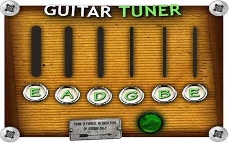 guitar tuner online by ear