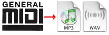 Convert MIDI to WAV Online